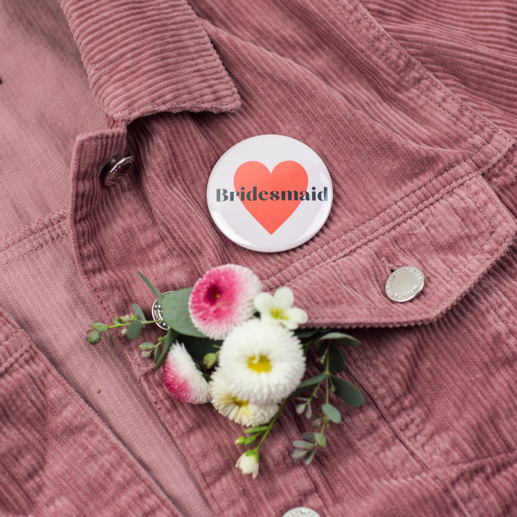 NEW 'Bridesmaid' Heart Hen Party Badge