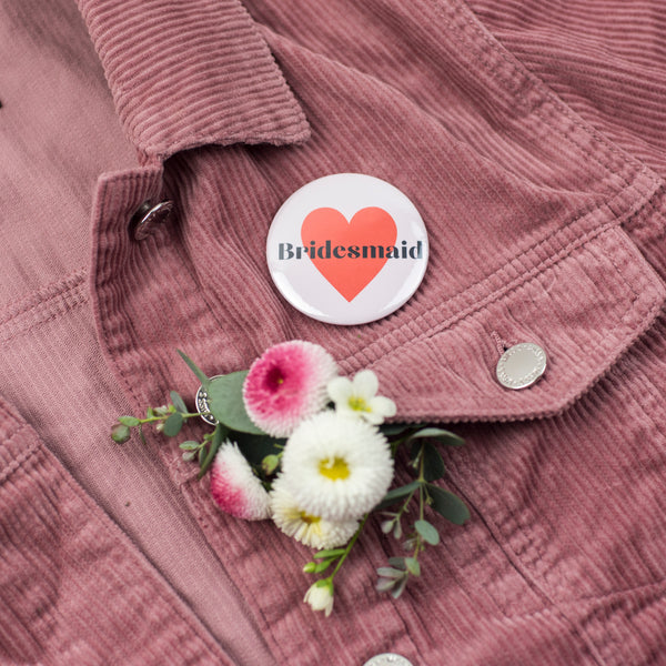 'Bridesmaid' Heart Hen Party Badge