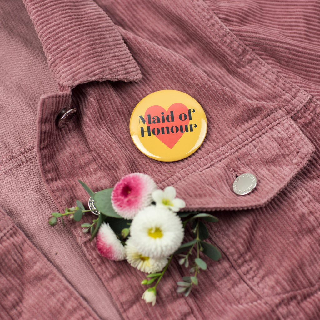 NEW 'Maid of Honour' Heart Hen Party Badge