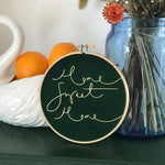 PREORDER - 'Home Sweet Home' Velvet Hoop - Medium Size