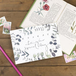 'Hooray For Your Special Day' Botanical Border Postcard