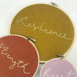 Custom Special Word for the Year Velvet Hoop