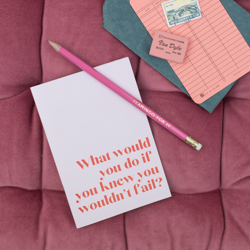 'What Would You Do If You Knew You Wouldn't Fail?' - Pocket Notebook