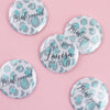 Blue Leopard Print Personalised Hen Party Badges