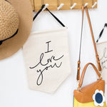 I Love You / Love You More - Handwritten Banners