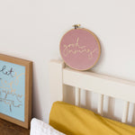 PREORDER - 'Good Morning' Velvet Hoop - Medium Size