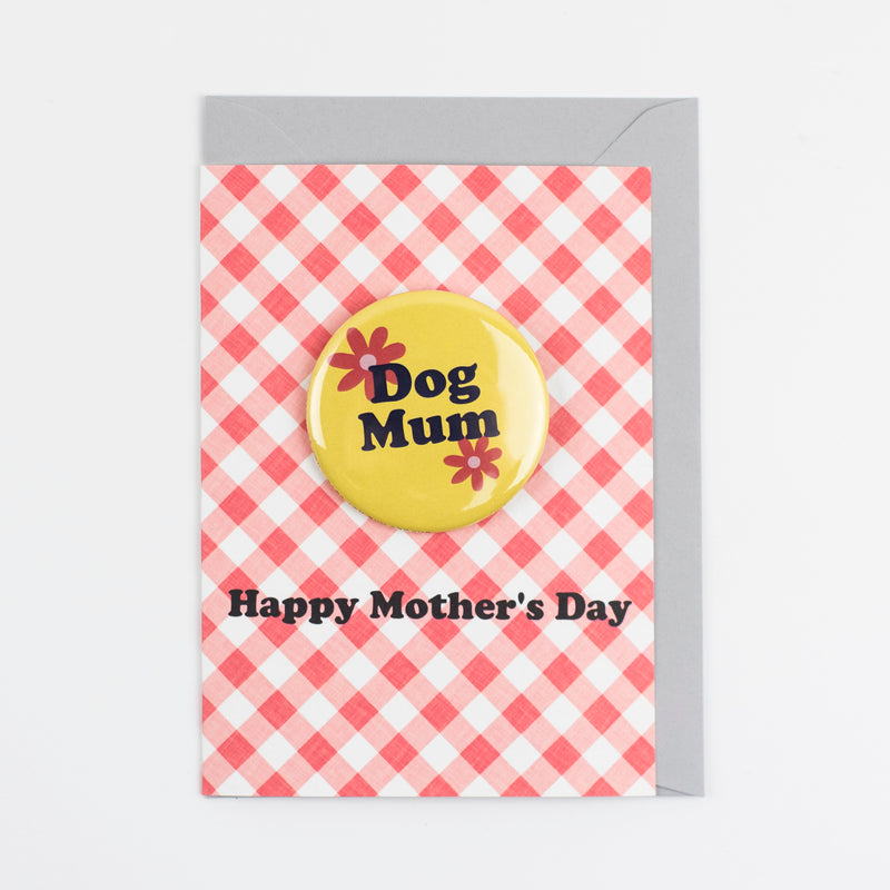 'Dog Mum' Happy Mother's Day Badge Card