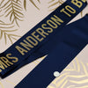 Personalised Surname Gold Glitter Ribbon Hen Party Sash - Bold Lettering
