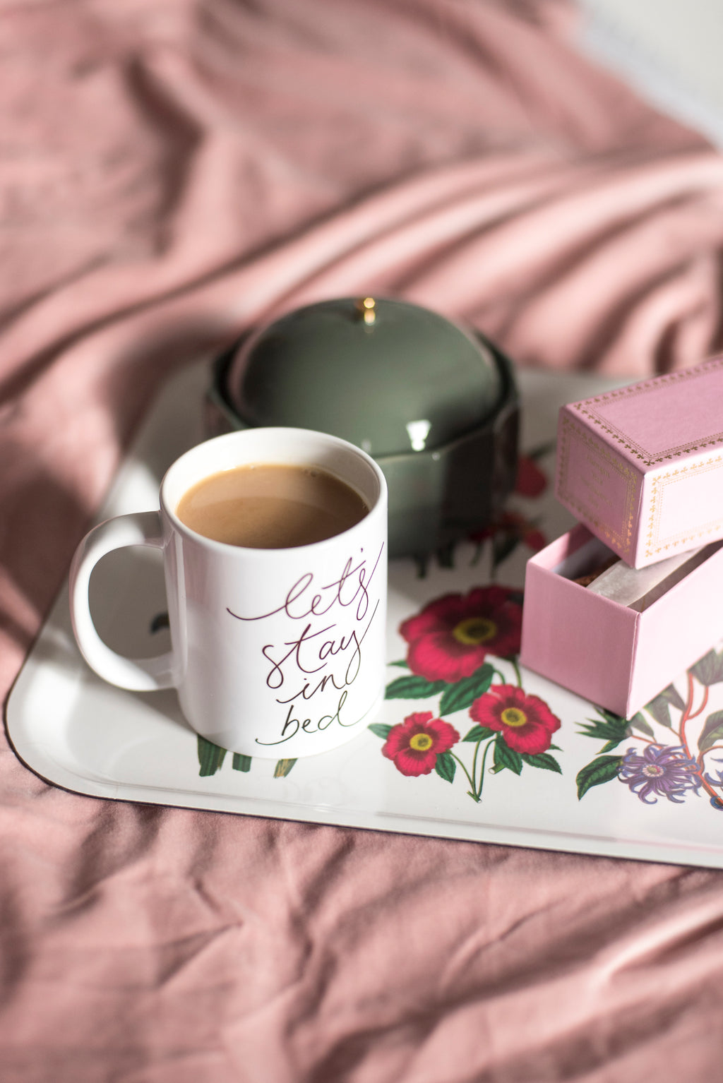 'Let's Stay In Bed' Ceramic Mug - no box