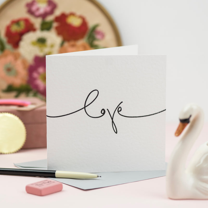 'Love' Simple Hand Lettered Card