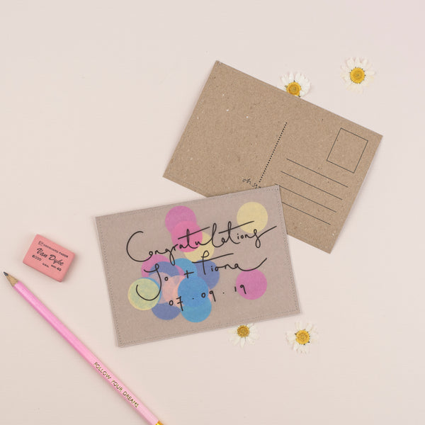 Personalised Confetti Postcard