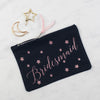 NEW Personalised Bridal Party Star Print Glitter Pouch