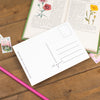 'You Are Bloody Brilliant' Floral Border Postcard