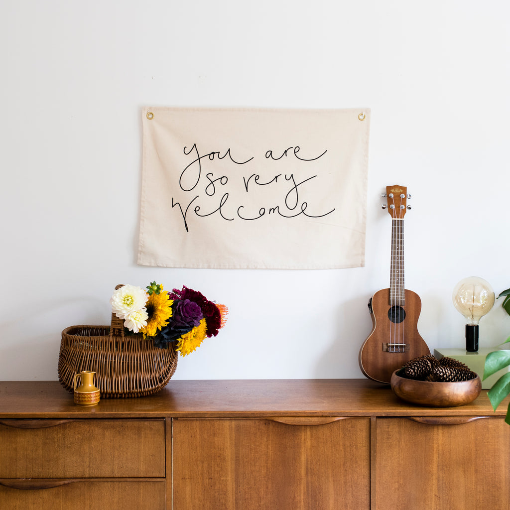 'You Are So Very Welcome' Wall Hanging