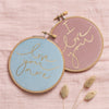 PREORDER - 'I Love You' + 'Love You More' Mini Velvet Hoop Set