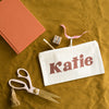 Retro Lettering Personalised Name Pencil Case