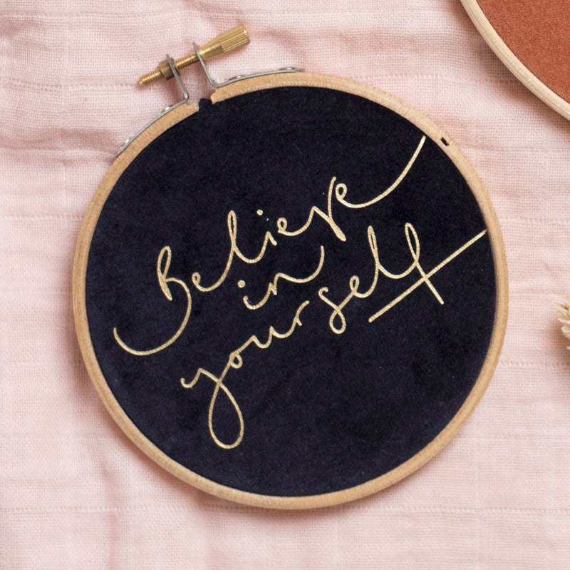 PREORDER - 'Believe in Yourself' Velvet Hoop - Small Size