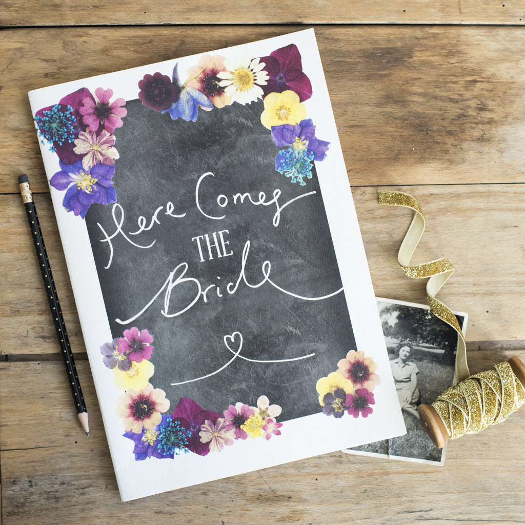 'Here Comes the Bride' Vintage Style Scrapbook