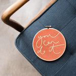 PREORDER - 'You Can Do It' Velvet Hoop - Medium Size