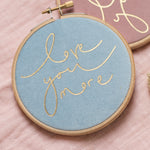 PREORDER - 'Love You More' Velvet Hoop - Small Size