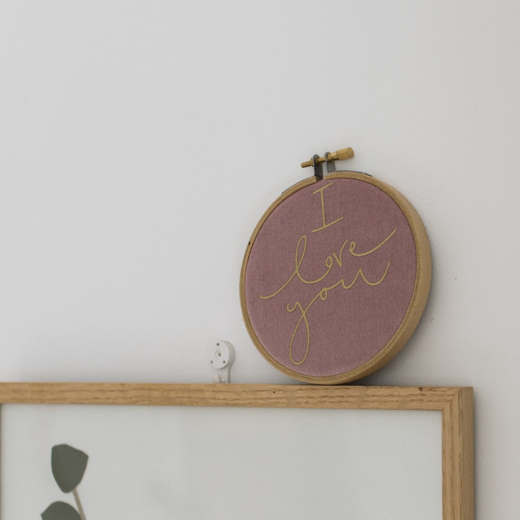 'I Love You' Hoop + Card Letterbox Gift Bundle