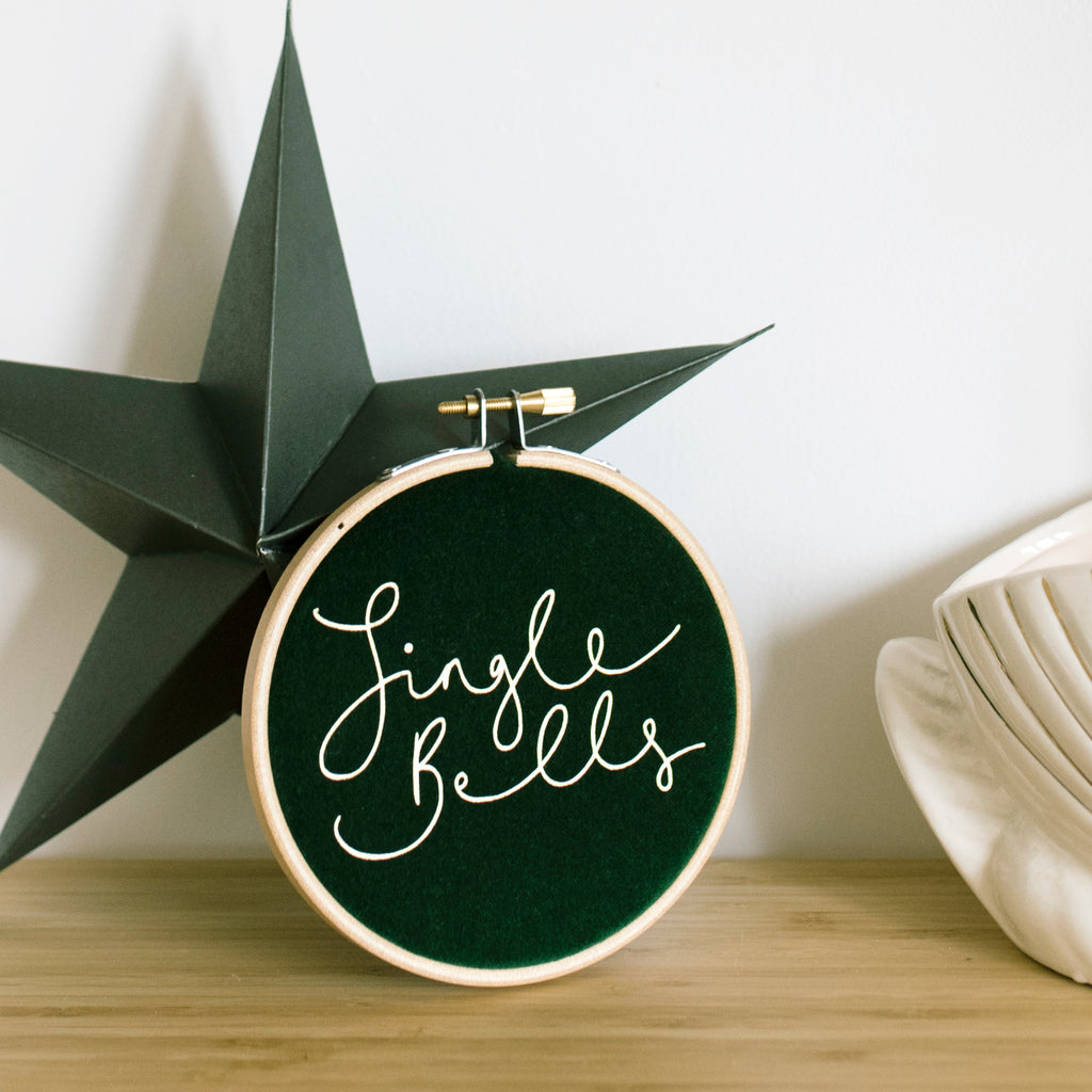 PREORDER - 'Jingle Bells' - Christmas Velvet Hoop - Small Size