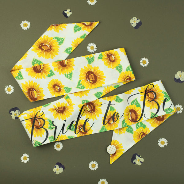 Sunflowers Personalised Hen Party Sash