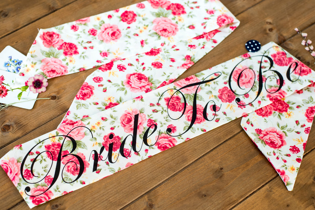 Valentine Rose Vintage Style Personalised Hen Party Sash