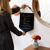'Remember When All Of This Seemed Impossible?' - Navy Velvet Banner Wall Hanging