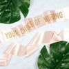 Choose Your Own Words - Custom Gold Glitter Print Sash - Hen Party Sash / Birthday Sash / Baby Shower Sash