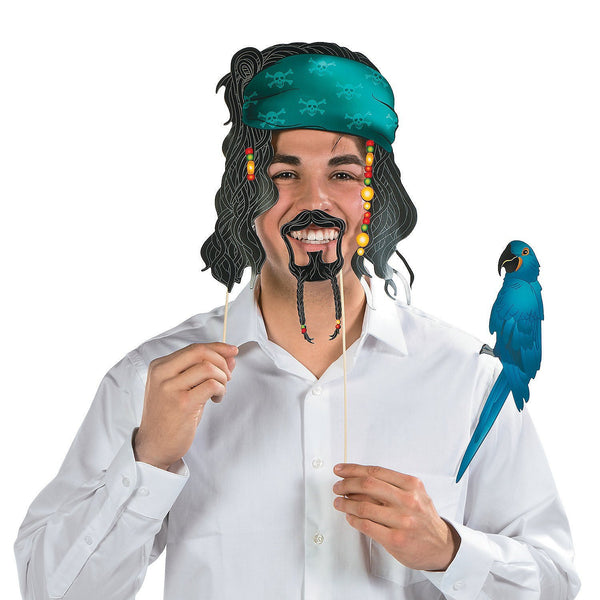12 Piece Party Favor Pirate Hat Bird Telescope Colorful