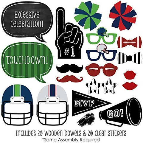 20 Piece Super Bowl Favor Party Costumes Weddings parties dress up Booth Photo Props Reception on a stick Decoration Favors