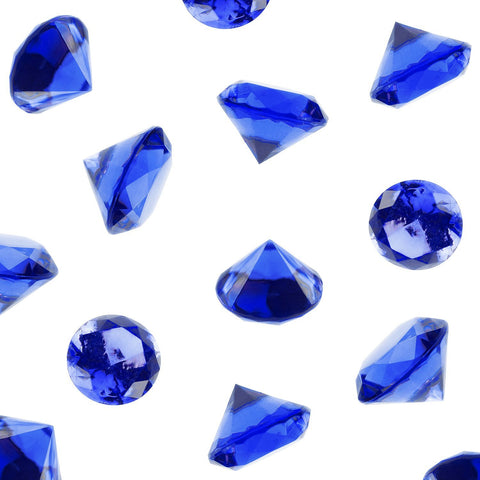 240 pc Clear Royal Blue Acrylic Diamonds Vase Fillers Wedding Bridal Shower Party Table Confetti Decorations