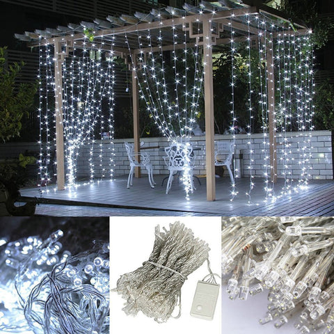 300 Ct Led Curtain Fairy Lights 10 Ft X 10 Ft For Weddings