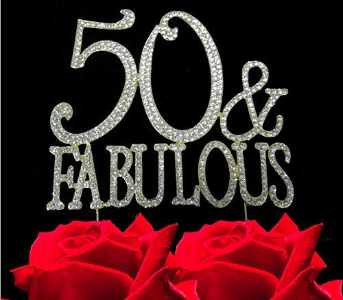 50 Abd Fabulou: 50 And Fabulous Gold Tone Bling Party Supplies Centerpiece