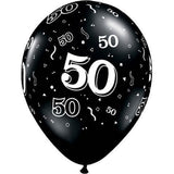 "50th Birthday Over the Hill 11"" Pack of 10 latex balloons"