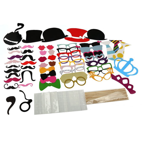 60 Piece Party Favor Hats Costumes Weddings parties dress up Booth Photo Props Reception on a stick Decoration Favors