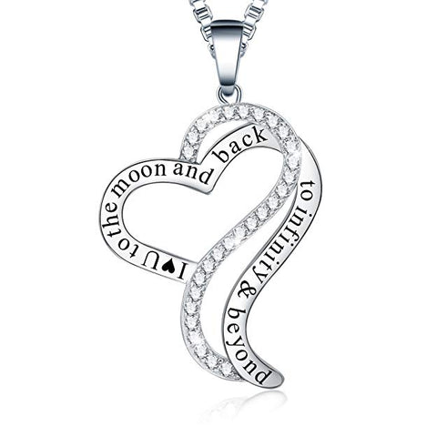 I Love You to The Moon and Back - To Infinity and Beyond Pendant Necklace
