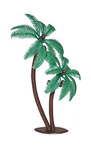 8 PC Palm Tree with Coconuts Cake Topper Supplies Birthday Jungle Wild Theme