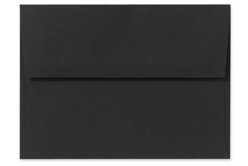 A7 Invitations Envelopes w/Peel & Press (5 1/4 x 7 1/4) - Midnight Black (50 Qty.)