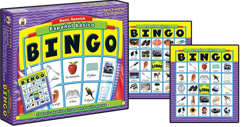 BINGO Board Game Espanol Basico Basic Spanish Learn a Language