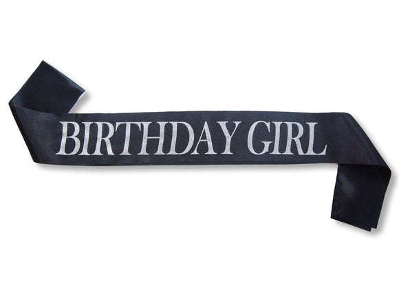 Birthday Girl Glitter Satin Sash