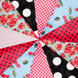 Colorful Multiple Design 30 ft Vintage Rockabilly Bridal Shower Banner Birthday Party Decoration Pennant Flags