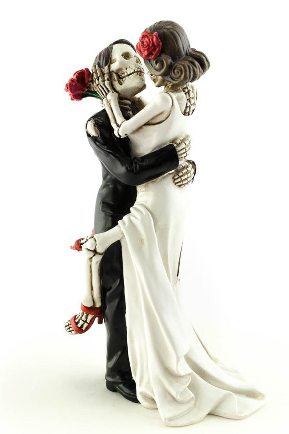 Day of the Dead Dia De Los Muertos Sexy Skulls Wedding Gothic Cake Topper Forever in Love