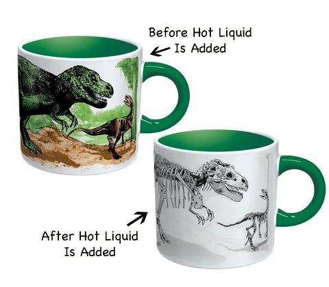 Disappearing Dinosaur 12 Oz Heat Sensitive Changing Coffee Cup Mug