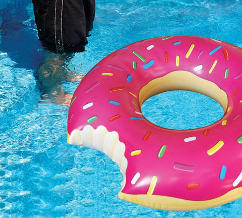 Giant Pink Donut Pool Water Inflatable Float