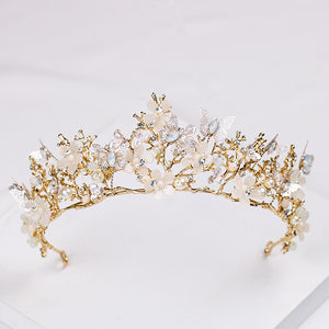 Baroque Vintage Butterfly Gold tone Tiara Crown BV0328