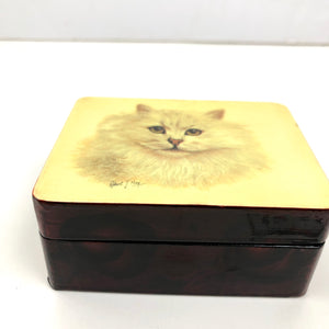 VTG Cat Trinket Box Robert J May