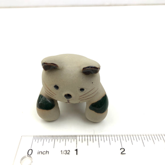 VTG Cat hanging Clay Figurine