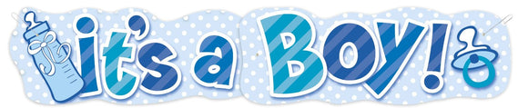 It's a Boy Large Welcome Banner For Walls Parties and Decor